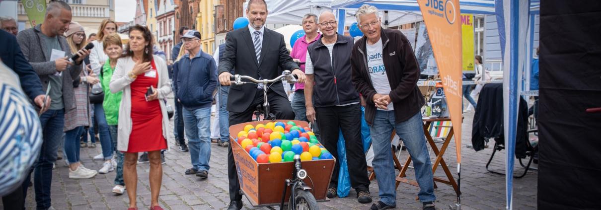 Fahrrad Bürgermeister Stralsund Alexander Badrow Tag des Mittelstandes